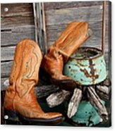 Old Cowboy Boots Acrylic Print