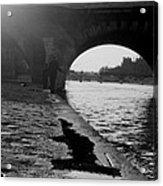 Paris Shadow Fisherman 1964 Acrylic Print
