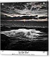 Red Rock Beach   Acrylic Print