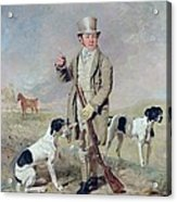 Richard Prince With Damon - The Late Colonel Mellish's Pointer Acrylic Print