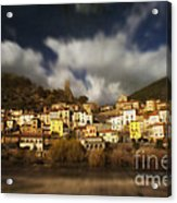 Roquebrun Acrylic Print by Paul Grand
