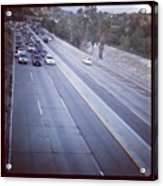 🚙🚗🚕 Stopped Due To An Accident Acrylic Print by Nena Alvarez