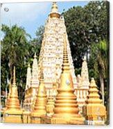 Stupa  Acrylic Print by Panyanon Hankhampa
