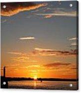 Sunset Over The Sea Acrylic Print