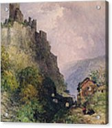 The Castle Of Katz On The Rhine Acrylic Print