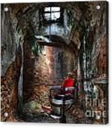 Time For A Cut- Barber Chair - Eastern State Penitentiary Acrylic Print
