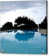 Tree At The Pool On Amalfi Coast Acrylic Print