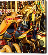 Wild Carrousel Horses  Acrylic Print