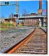 0001 Train Tracks Acrylic Print