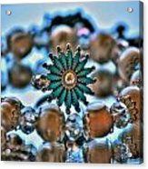 0001 Turquoise And Pearls Acrylic Print