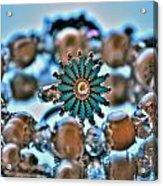 0002 Turquoise And Pearls Acrylic Print