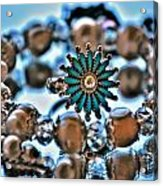 0003 Turquoise And Pearls Acrylic Print