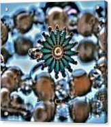 0004 Turquoise And Pearls Acrylic Print