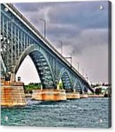001 Stormy Skies Peace Bridge Series Acrylic Print
