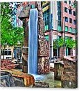 002 Fountain Plaza Acrylic Print