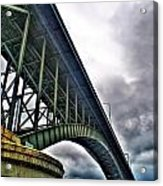 002 Stormy Skies Peace Bridge Series Acrylic Print