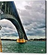 003 Stormy Skies Peace Bridge Series Acrylic Print