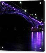 004 Peace Bridge Honoring Breast Cancer 2012 Series Acrylic Print