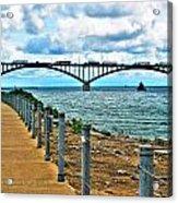 004 Stormy Skies Peace Bridge Series Acrylic Print