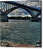 005 Peace Bridge Series II Beautiful Skies Acrylic Print