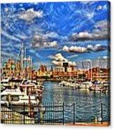006 On A Summers Day  Erie Basin Marina Summer Series Acrylic Print