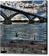 006 Peace Bridge Series II Beautiful Skies Acrylic Print