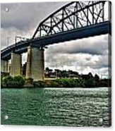 006 Stormy Skies Peace Bridge Series Acrylic Print