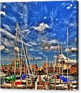007 On A Summers Day  Erie Basin Marina Summer Series Acrylic Print