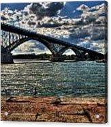 007 Peace Bridge Series II Beautiful Skies Acrylic Print