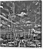 007bw On A Summers Day  Erie Basin Marina Summer Series Acrylic Print