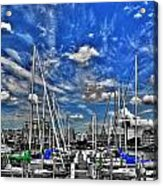 007sc On A Summers Day  Erie Basin Marina Summer Series Acrylic Print