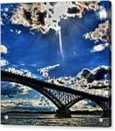 008 Peace Bridge Series II Beautiful Skies Acrylic Print