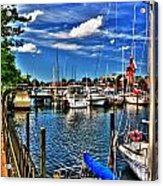 009 On A Summers Day  Erie Basin Marina Summer Series Acrylic Print