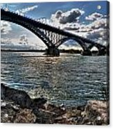 009  Peace Bridge Series II Beautiful Skies Acrylic Print