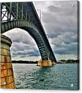 009 Stormy Skies Peace Bridge Series Acrylic Print