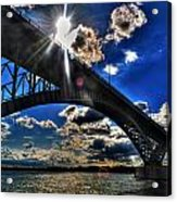 010  Peace Bridge Series II Beautiful Skies Acrylic Print