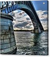 011  Peace Bridge Series II Beautiful Skies Acrylic Print