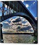 012  Peace Bridge Series II Beautiful Skies Acrylic Print
