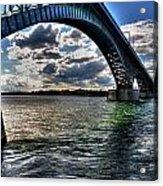 013 Peace Bridge Series II Beautiful Skies Acrylic Print