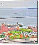 013 Series Of Buffalo Ny Via Birds Eye Erie Basin Marina Acrylic Print