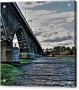 014 Peace Bridge Series II Beautiful Skies Acrylic Print
