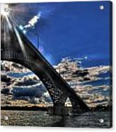 016 Peace Bridge Series II Beautiful Skies Acrylic Print