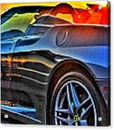 03 Ferrari Sunset Acrylic Print