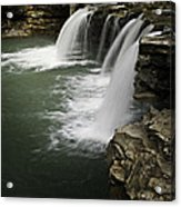 0804-0013 Falling Water Falls 4 Acrylic Print by Randy Forrester