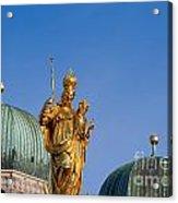 Towers Of Frauenkirche Acrylic Print