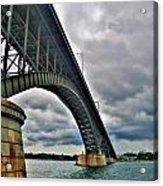 009 Stormy Skies Peace Bridge Series Acrylic Print