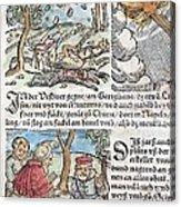 1557 Lycosthenes Rain Of Stones Meteorite Acrylic Print