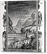 1731 Johann Scheuchzer Noah's Ark Flood Acrylic Print by Paul D Stewart