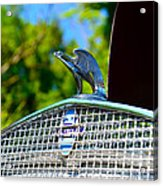 1931 Chevrolet Ae Independence Hood Ornament Acrylic Print by Paul Ward