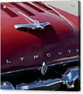 1956 Plymouth Hood Ornament Acrylic Print